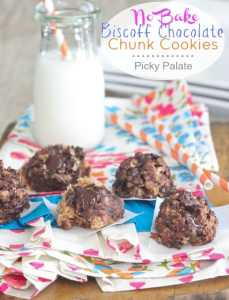 picky.palate.No-Bake-Biscoff-Chocolate-Chunk-Cookies