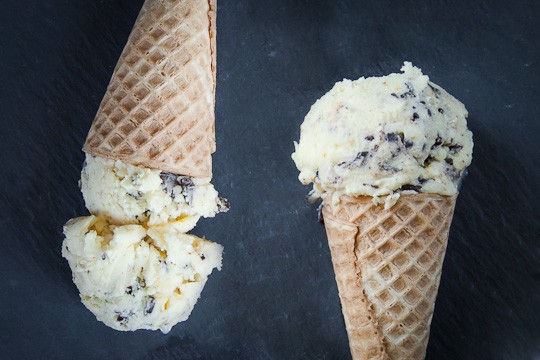 dark chocolate chip orange olive oil ice cream