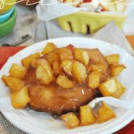 Inside Out Caramel Apple Fritters   www.somethingswanky.com