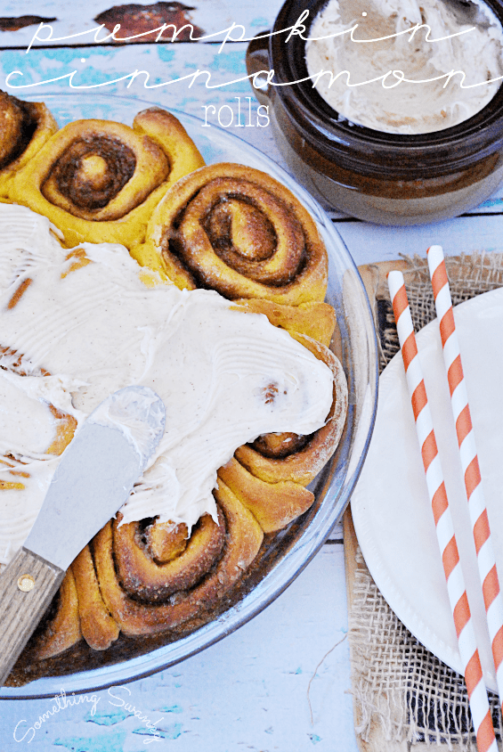 Pumpkin Cinnamon Rolls | www.somethingswanky.com