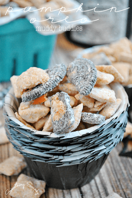 Pumpkin Oreo Muddy Buddies