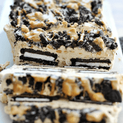 PB Oreo Icebox Cake | www.somethingswanky.com