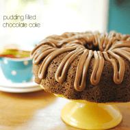 Pudding Filled Chocolate Cake | www.somethingswanky.com