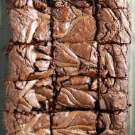 These Nutella Brownies are insanely rich