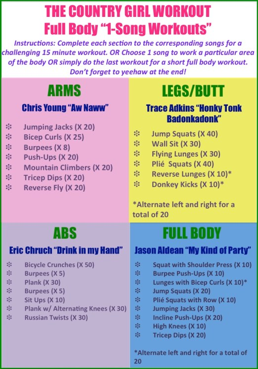 One Song Workout - Country