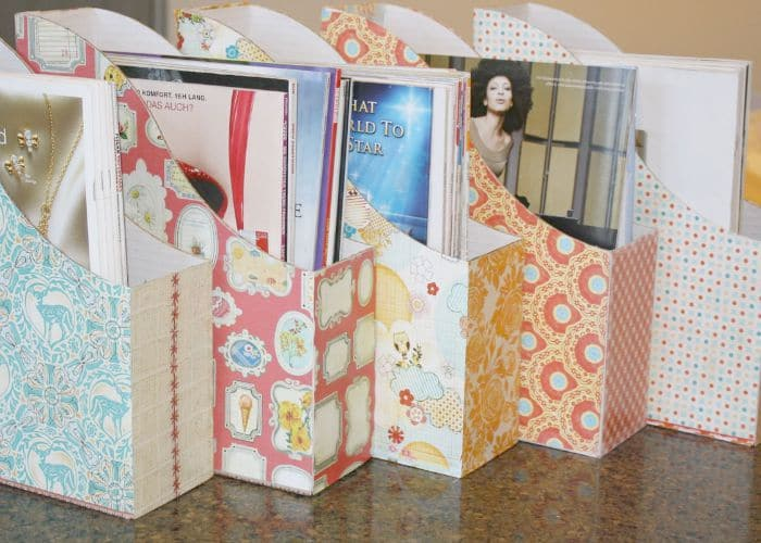magazine file box craft