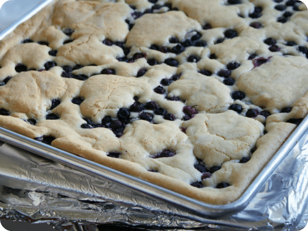 2 blueberry cobbler
