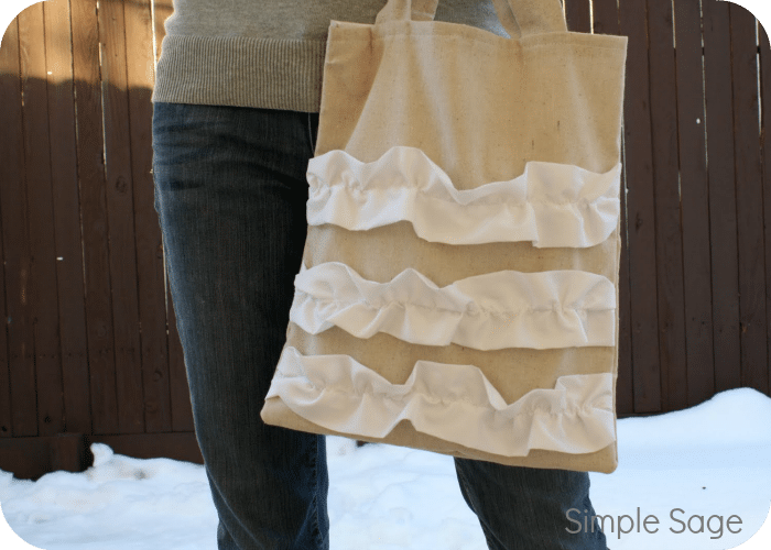 ruffled purse