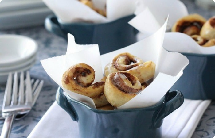 bite sized cinnamon rolls