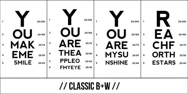 download b+w eye charts