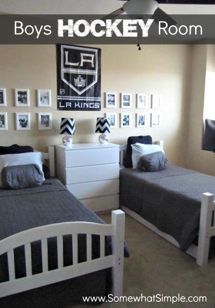 boys hockey room