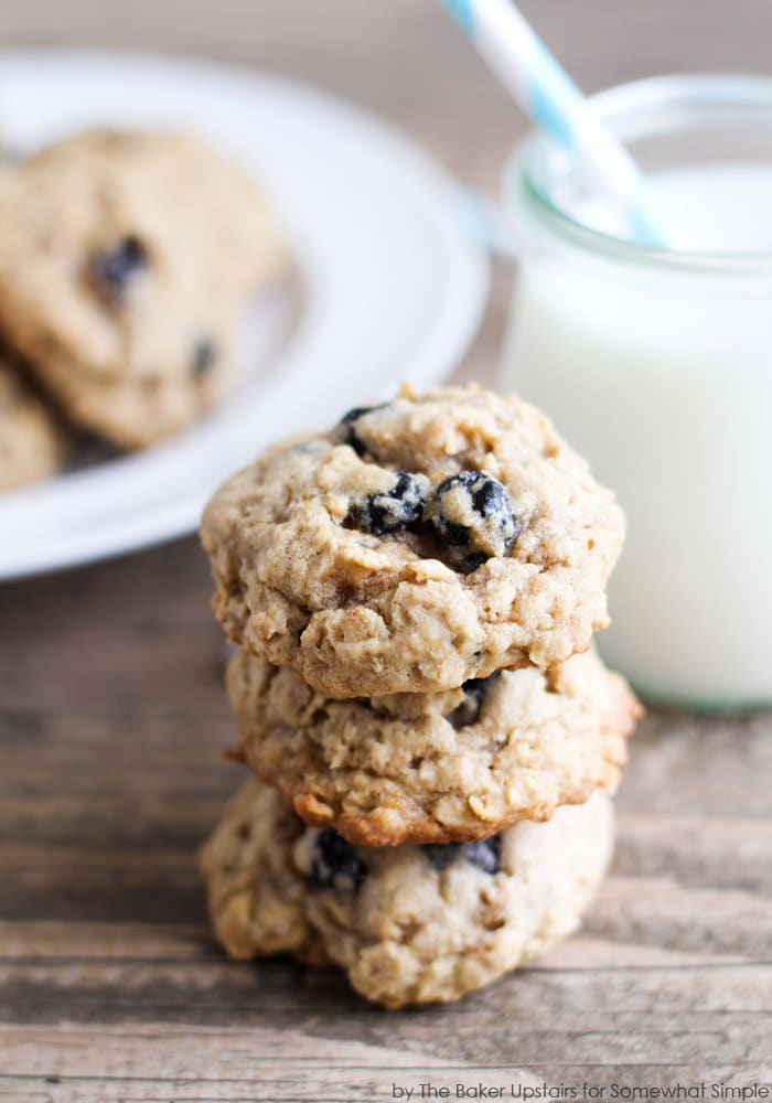 Blueberry Cobbler Cookies - Somewhat Simple