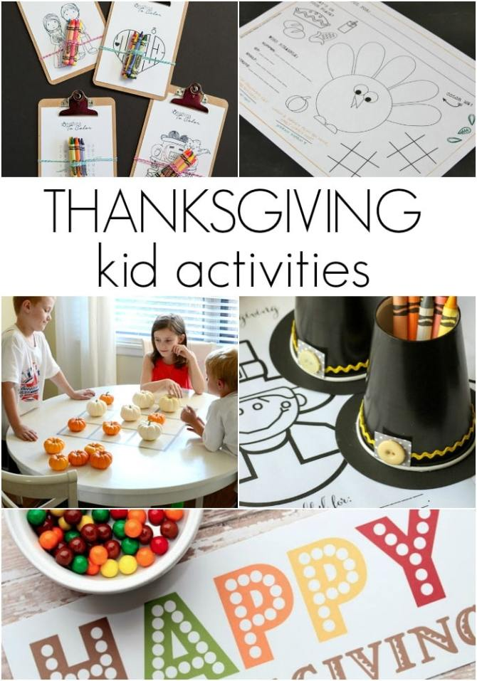 Thanksgiving Kids Table Activities Somewhat Simple