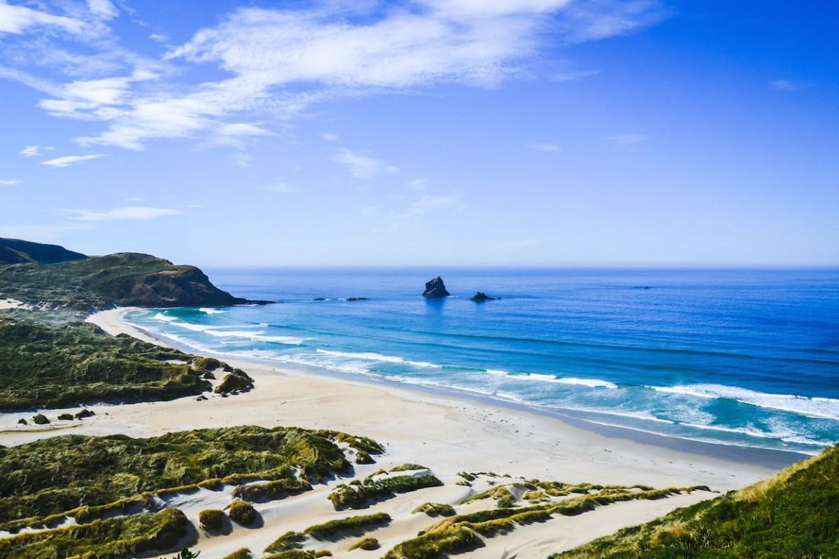 Sandfly-Beach-Neuseeland
