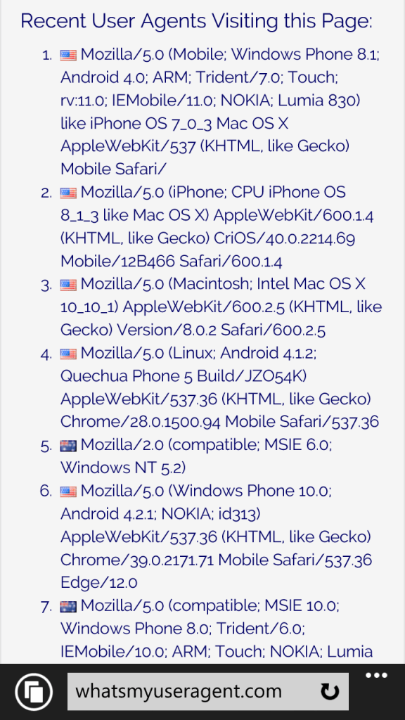 Spartan en Windows 10 para móviles