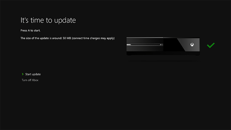 update xbox one