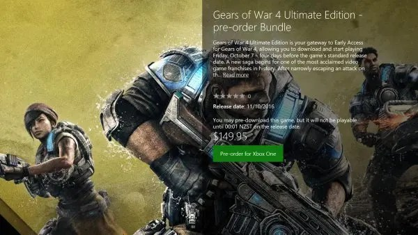 Ultimate Edition Gears of War 4
