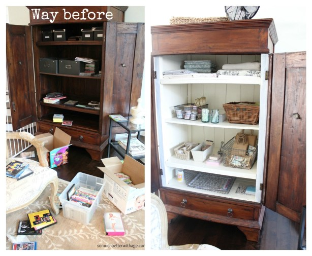 Craft cabinet | somuchbetterwithage.com