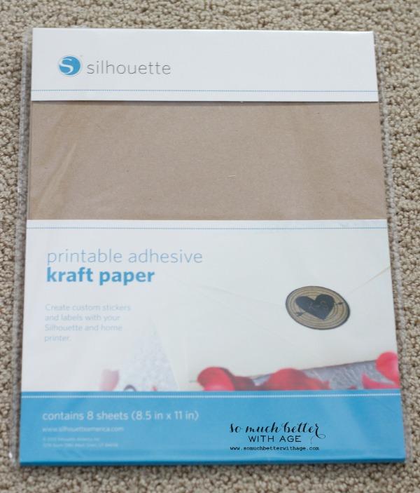 Adhesive kraft paper / Newbie silhouette cameo tutorial