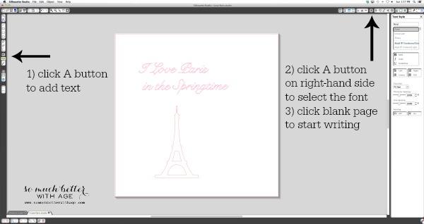 I love Paris in the springtime art - a newbie silhouette cameo tutorial