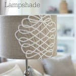 DIY Faux Embroidery Lampshade