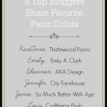 6 Top Bloggers Share Favorite Paint Colors