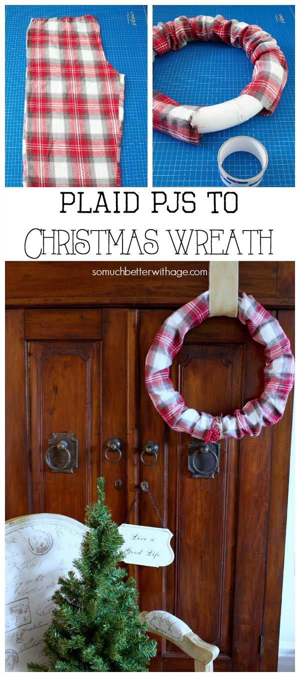 Plaid PJs to Christmas wreath | somuchbetterwithage.com