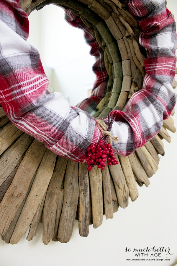 Red Plaid PJs to wreath | somuchbetterwithage.com