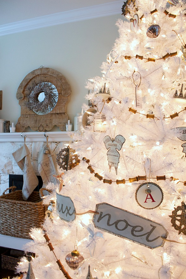 Balsam Hill white Christmas tree | somuchbetterwithage.com