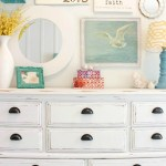 White Distressed Dresser Makeover