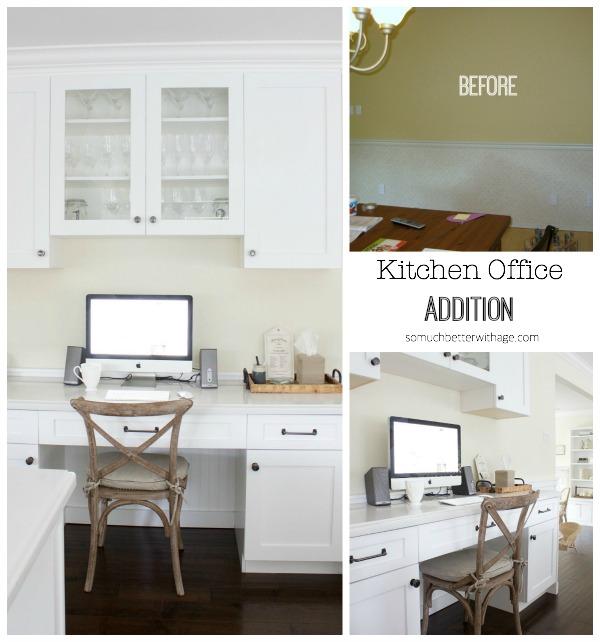 Kitchen office addition | somuchbetterwithage.com