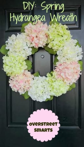 DIY Spring Hydrangea Wreath from houseofoverstreet