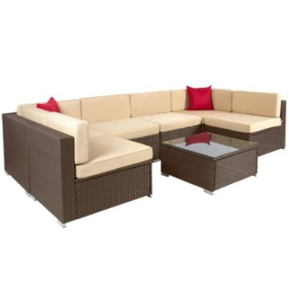 Home Decor- The Best Most Comfortable Outdoor Furniture --Wicker-Sofa-Sectional-Set 2