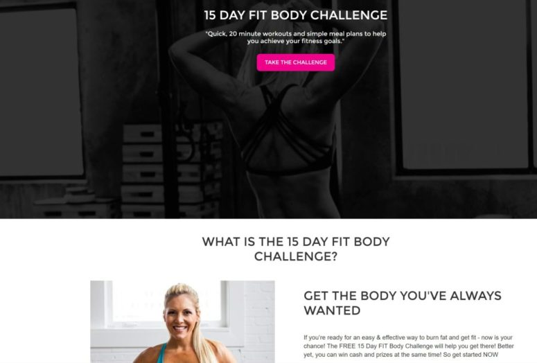 easy effective fitness challenge to burn fat and get fit FREE FIT Body Challenge