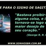 Frase para o signo de Sagitário