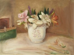 *2015-14.Floral.Lilies.Hale.Lilies in Ginori Cachepot