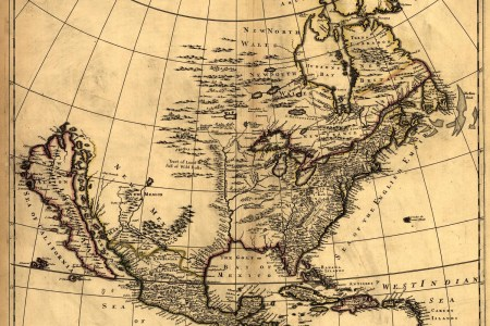 map of united states in 1600's