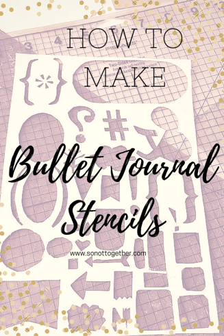 How to Make Bullet Journal Stencils