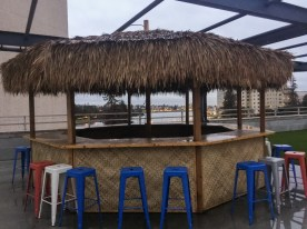 My first coworking space with a Tiki Bar.