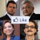 Los candidatos en las redes sociales: Facebook