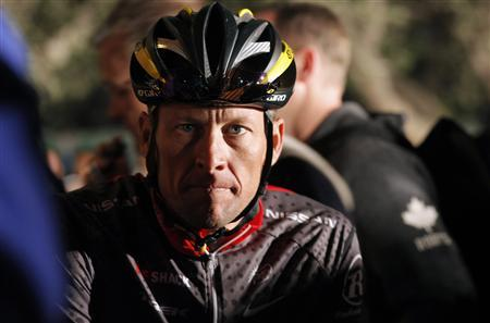 File photo of seven-time Tour de France winner Lance Armstrong awaiting the start of the 2010 Cape Argus Cycle Tour in Cape Town
