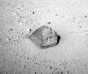 Roca encontrada por el Curiosity