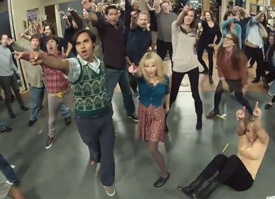 flashmob the big bang theory