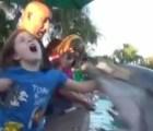 Delfín muerde a niña en un parque acuático