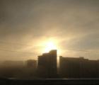 Un arcoiris circular amanece en Moscú