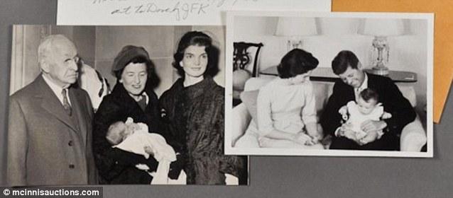 Bautismo de Caroline Kennedy en 1957.
