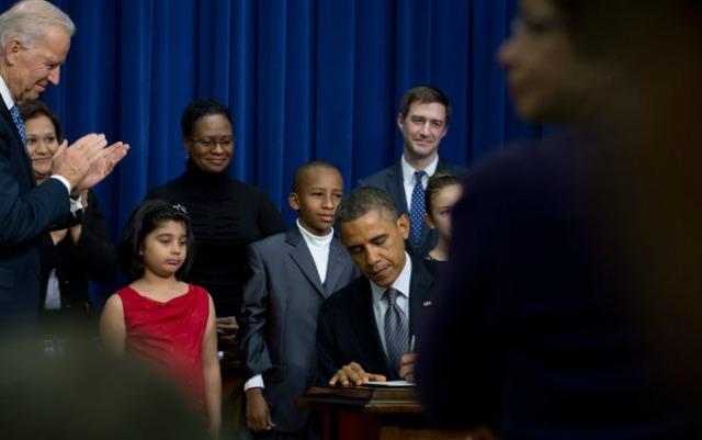 Barack Obama ante el congreso durante el día de ayer.