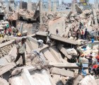 Colapsa edificio en Bangladesh. Hay más de 80 muertos y 700 heridos