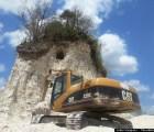 Destruyen pirámide maya para construir un camino en Belice