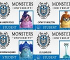 "Crea tu propia credencial de ""Monsters University"""